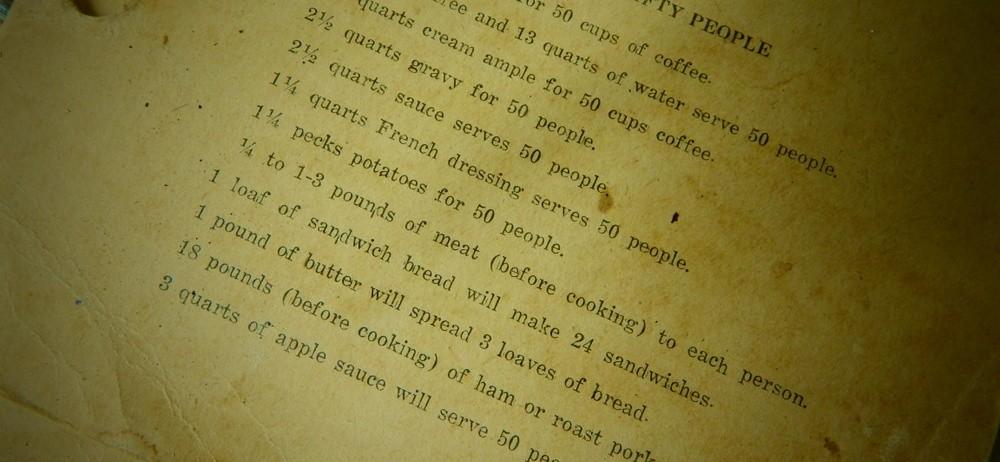 Pioneer Recipe