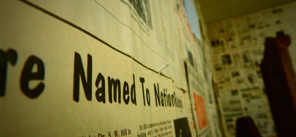 Newspaper Lined Walls